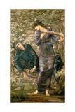 The Beguiling of Merlin, 1872-77 Giclée-tryk af Edward Burne-Jones