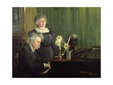 Edward Grieg (1843-1907) Accompanying His Wife, 1898 Giclee Print by Peder Severin Kröyer