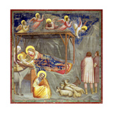 The Nativity, C.1305 Gicléedruk van  Giotto di Bondone