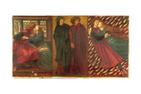 Paolo and Francesca, 1862 Giclee Print by Dante Gabriel Rossetti