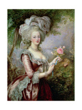 Marie Antoinette (1755-93) after Vigee-Lebrun Giclée-tryk af Louise Campbell Clay