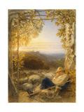 Sleeping Shepherd - Morning, C.1857 Giclee Print by Samuel Palmer