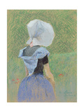 A Young Girl from Zeeland Giclee Print by Emile Claus