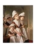 Foundling Girls at Prayer in the Chapel, C.1877 ジクレープリント : ソフィー・アンダーソン