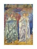 Angeli Ministrantes (Design for a Window in Salisbury Cathedral) Giclée-tryk af Edward Burne-Jones