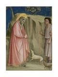 Joachim Among the Shepherds, C.1305 (Detail) Giclée-tryk af  Giotto di Bondone