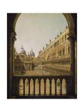 Interior Court of the Doge's Palace, Venice, C.1756 Impressão giclée por  Canaletto