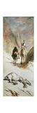 Don Quixote, Sancho Panza and the Dead Mule, 1867 Reproduction procédé giclée par Honore Daumier