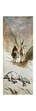Don Quixote, Sancho Panza and the Dead Mule, 1867 Giclee Print by Honore Daumier