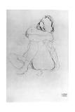 Seated Woman Fotografie-Druck von Gustav Klimt