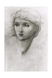 Study of a Girl's Head Reproduction procédé giclée par Edward Burne-Jones