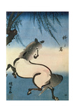 A Horse Galloping under a Willow Tree Giclee Print by Utagawa Kunisada