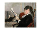 Interior, Woman Reading, 1880 Reproduction procédé giclée par Gustave Caillebotte