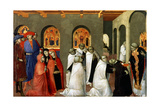 The Miracle of the Holy Sacrament, from the Predella of the Altar of the Holy Eucharist, 1423 Giclée-tryk af Sassetta,