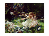 '...And the Fairies Ran Away with their Clothes' Giclée-tryk af Charles Sims