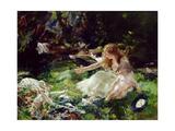 '...And the Fairies Ran Away with their Clothes' Lámina giclée por Charles Sims