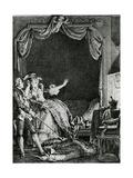'sainte Vierge!' S'Ecria-T-Elle Qu'Allons Nous Devenir Un Homme Tue Chez Moi!', Illustration… Giclee Print by Jean Michel the Younger Moreau