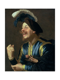 The Laughing Violinist, 1624 Giclee Print by Gerrit van Honthorst