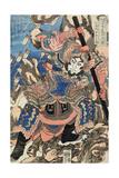 Hakumen Rokun Teitenju Impressão giclée por Kuniyoshi Utagawa