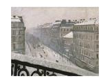 Boulevard Haussmann in the Snow, 1879 or 1881 Giclée-vedos tekijänä Gustave Caillebotte