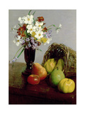 Fruits and Flowers, 1866 Lámina giclée por Henri Fantin-Latour