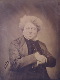 Portrait of Alexandre Dumas Pere (1803-70) C.1850-60 Photographic Print by Gaspard Felix Tournachon Nadar