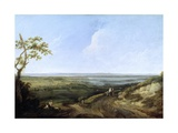 View of Portsmouth from Portsdown Hill Giclée-tryk af Thomas Jones