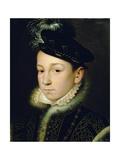 Charles IX (1550-74) Giclée-tryk af Francois Clouet