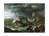 A Sea Storm, C.1594-95 Giclée-Druck von Jan Brueghel the Elder