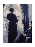 Interior, Woman at the Window, 1880 Giclée-vedos tekijänä Gustave Caillebotte