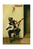The Banjo Player, 1881 Giclee Print by Leon Delachaux