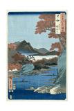 Tatsuta River, Yamato Province Giclee-trykk av Ando Hiroshige