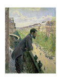 Man on a Balcony, C.1880 Giclee Print by Gustave Caillebotte