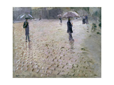 Study for a Paris Street, Rainy Day, 1877 Giclee Print by Gustave Caillebotte