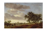 Landscape with Egmond Abbey in the Distance, 1657 Giclee Print by Salomon van Ruisdael or Ruysdael