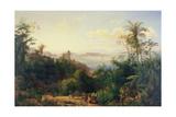 View of Church of Nossa Senhora Da Gloria De Outeiro, Brazil, 1848 Giclée-Druck von Thomas Ender