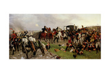 On the Evening of the Battle of Waterloo, 1879 Giclée-tryk af Ernest Crofts