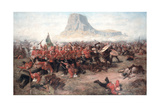 The Battle of Isandlwana: the Last Stand of the 24th Regiment of Foot (South Welsh Borderers)… Giclée-tryk af Charles Edwin Fripp