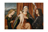 Madonna and Child with Saints Catherine of Alexandria and Either George or Liberale Giclée-tryk af Vittore Carpaccio