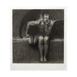 Lucifer, 1892 Gicléetryck av Franz von Stuck