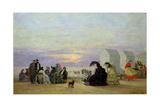 Beach Scene, Evening, 1864 Reproduction procédé giclée par Eugène Boudin
