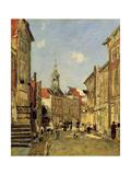 The Rue De Dordrecht, 1884 Reproduction procédé giclée par Eugène Boudin
