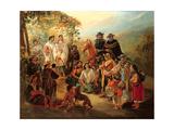 Regional Costumes, 1850 Giclee Print by Johann Moritz Rugendas