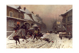 The Attack at Dawn, 1877 Giclee Print by Alphonse Marie de Neuville
