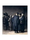 The Lawyers, 1870-75 Reproduction procédé giclée par Honore Daumier