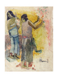 Two Figures, Study for 'Faa Iheiche', 1898 Giclee Print by Paul Gauguin