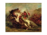 Collision of Moorish Horsemen, 1843-44 Giclee Print by Eugene Delacroix
