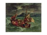 Christ on the Sea of Galilee, 1854 Giclée-tryk af Eugene Delacroix