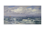 Squally Weather, South Coast Gicléetryck av Henry Moore