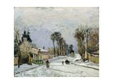The Versailles Road at Louveciennes, 1869 Reproduction procédé giclée par Camille Pissarro